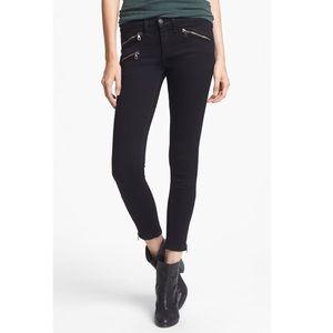 Rag & Bone Black Zipper Skinny Jeans